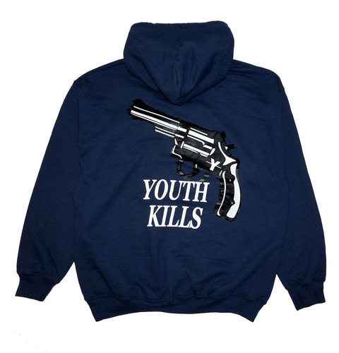 MIDNIGHT VIOLENT HOODIE (NAVY)