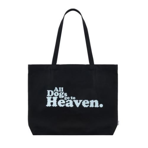 ALL DOGS GO TO HEAVEN 토트 백 (블랙)